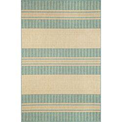 Madison Beige/Green Stripe Indoor/Outdoor Area Rug