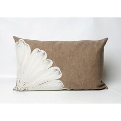 Antique Medallion Rectangle Indoor/Outdoor Pillow in Taupe
