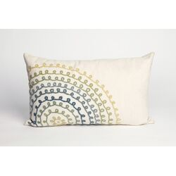 Ombre Threads Rectangle Indoor/Outdoor Pillow in Cool