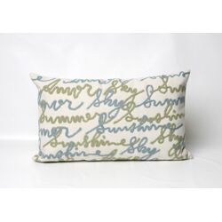Amour Rectangle Indoor/Outdoor Pillow in Blue