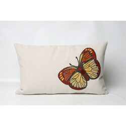 Butterfly Rectangle Indoor/Outdoor Pillow in Orange