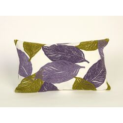 Mystic Leaf Rectangle Indoor/Outdoor Pillow in Purple