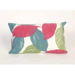 Mystic Leaf Rectangle Pillow in Pink