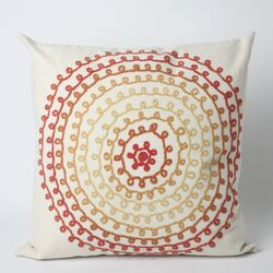 Ombre Threads Square Indoor/Outdoor Pillow in Warm