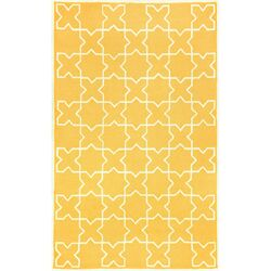 Capri Yellow Moroccan Tile Outdoor Area Rug