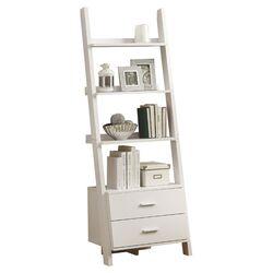 sauder trestle 71 14 quot ladder bookcase reviews wayfair