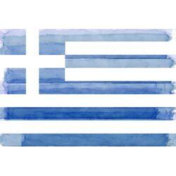 Greek Flag Painting Print on Canvas