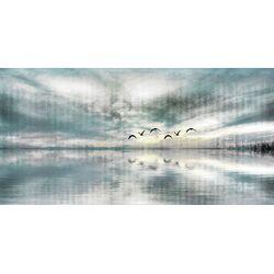 Birds Skylight Painting Print on Canvas