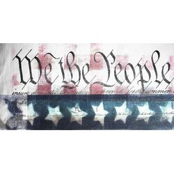 We the People Graphic Art on Canvas