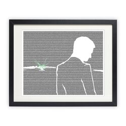 The Great Gatsby - Gatsby and the Green Light Graphic Art