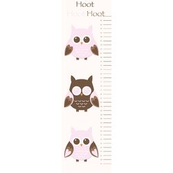 Owl Growth Chart Wall Decal