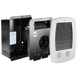 Dimplex deluxe wall mounted fan forced bathroom heater for Space heater for bathroom
