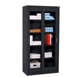 Sliding Door Clear View Storage Cabinet