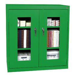 Clear View Counter Height Storage Cabinet