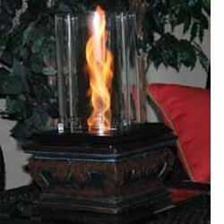 Serenity Glass Gel Table Top Fireplace