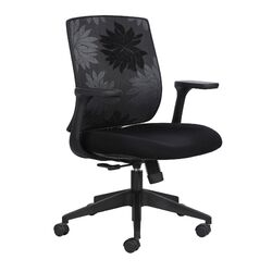 Bliss Mid-Back Height Adjustable Black Office Chair