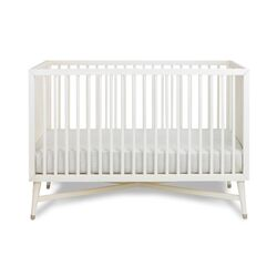 Mid-Century French White Crib