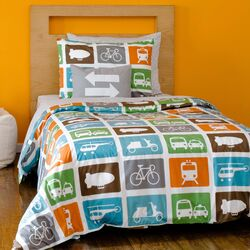 Transportation Duvet Set