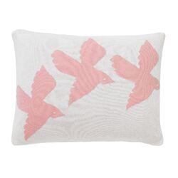 Birds Knit Boudoir Pillow