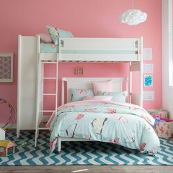 Mid-Century Loft Bed with Full Bed