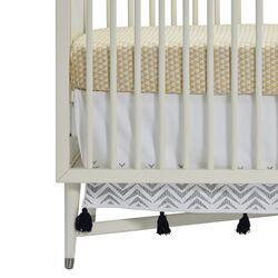 Zebra Embroidered Crib Skirt