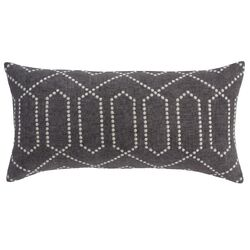 Dotted Trellis Charcoal Pillow