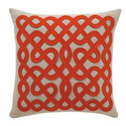 Labyrinth Persimmon Pillow Cover