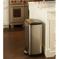 Rectangular Step 10 Gallon Trash Can