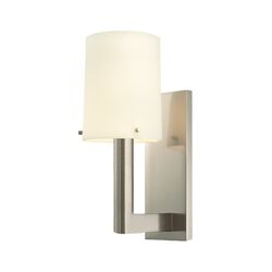Calmo Retta One Light Wall Sconce in Polished Nickel