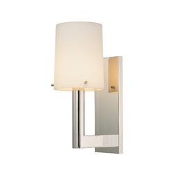 Calmo Retta One Light Wall Sconce in Satin Nickel