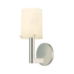 Calmo Roto One Light Wall Sconce in Polished Nickel