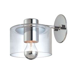 Transparence Wall Sconce Extension in Polished Chrome