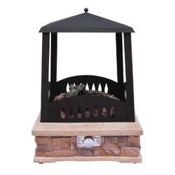 Grandview Steel Gas / Propane Outdoor Fireplace