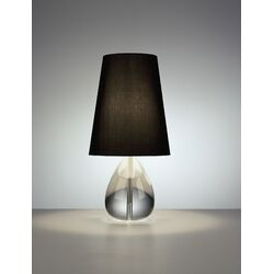 Claridge Teardrop Table Lamp with Black Shade