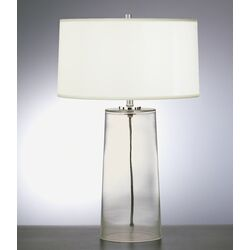 Rico Espinet Olinda Table Lamp in Clear Glass with White Organza Shade