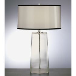 Rico Espinet Olinda Table Lamp in Clear Glass with Black Organza Shade