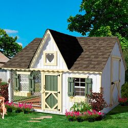 Extra large dog house wayfair Victorian cottages kit homes
