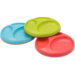 3 Pack Asst Saucer Stayput Plates in Blue Raspberry / Grape / Cherry