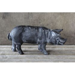 Country Pig Figurine
