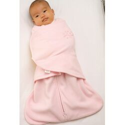 Fleece SleepSack Swaddle Wearable Blanket in Pink