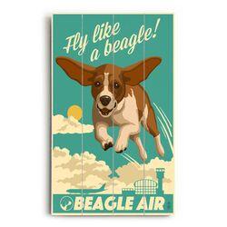 Beagle Air Wall Art
