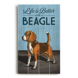 Life is Better with a Beagle Wall Art
