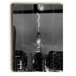 New York City Lightning Strike Wall Art