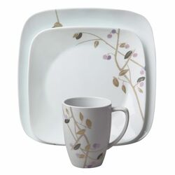 Square Midnight Garden 16 Piece Dinnerware Set