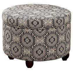 Fashion Storage Medallion Suzani Ottoman