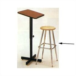 Height Adjustable Low-Back Drafting Chair with Footrest