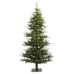 Minnesota Pine 6' Green Artificial Half Christmas Tree with 200 Clear Lights with Stand