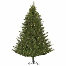 Modesto 4.5' Green Pine Artificial Christmas Tree with 250 White Lights