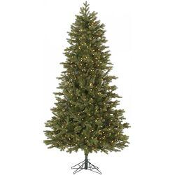 Slim Balsam 7.5' Green Fir Artificial Christmas Tree with 700 Dura-Lit Clear Lights