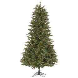 4.5' Slim Balsam Fir Christmas Tree with 200 LED Multi Colored Lights